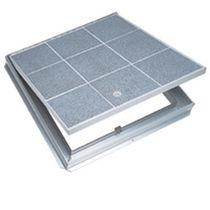 Trappe d'accès pour sol carrelé / pour sol / carrée / en aluminium