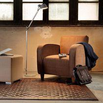 Tapis contemporain / uni / en cuir / rectangulaire