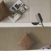 Tapis contemporain / uni / en coton / rectangulaire