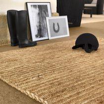 Tapis contemporain / uni / en fibre d'abaca / rectangulaire