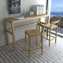 Table mange-debout contemporaine / en bois / rectangulaire
