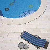 Carrelage pour plage de piscine / de sol / en grès / en pierre calcaire