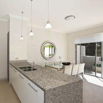Plan de travail en granite / de cuisine / résistant à la chaleur / antitache