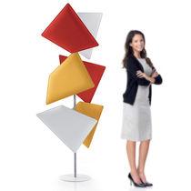 Panneau décoratif acoustique / en polyester / pour agencement intérieur / coupe-feu
