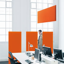 Panneau acoustique pour plafond / en tissu / coloré / pour établissement public