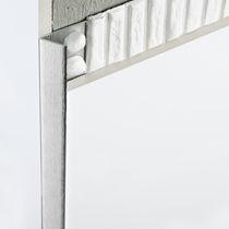 Profilé de finition en aluminium / pour angle extérieur / pour carrelage