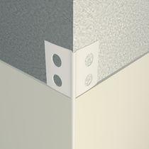 Profilé de finition en PVC / pour angle extérieur / pour façade / pour cloison