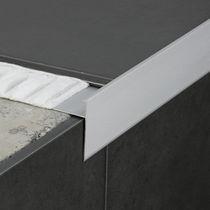 Profilé de finition en aluminium / pour carrelage / chant droit
