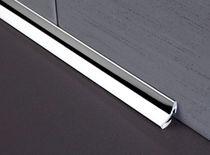Profilé de finition en acier inox / pour carrelage / pour angle intérieur