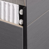 Profilé de finition en PVC / pour carrelage / pour angle extérieur