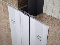 Joint de dilatation en aluminium / pour mur