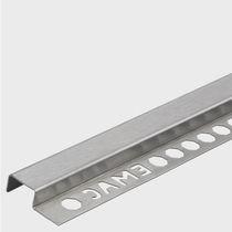 Profilé de finition en acier inox / pour cloison