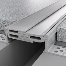 Joint de dilatation d'aluminium / pour plancher