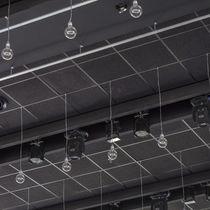Faux-plafond en laine minérale / en bois / en dalles / acoustique