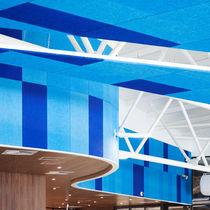 Panneau acoustique pour faux-plafond / pour mur intérieur / en laine de bois / coloré