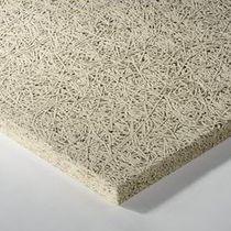 Panneau acoustique pour faux-plafond / pour mur intérieur / en laine de bois / en laine minérale