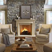 Parement de pierre / intérieur / texturé / décoratif