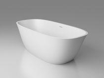 Baignoire à poser / ovale / en Solid Surface / hydromassage