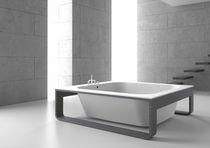 Baignoire sur pied / carrée / en Solid Surface