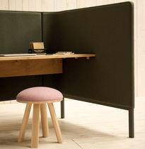 Bureau pour open space / en chêne / contemporain / professionnel