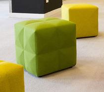 Pouf contemporain / en tissu / rectangulaire / carré
