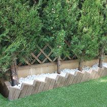 Bordurette de jardin / en béton / d'angle