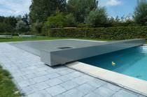 Abri de piscine plat / en aluminium / motorisé