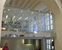 Garde-corps en verre / en inox / à panneaux en verre / d'intérieur