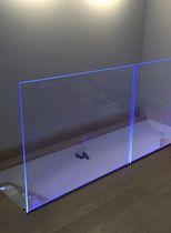 Garde-corps en verre / à panneaux en verre / d'intérieur / pour balcon