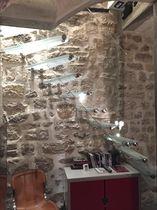 Escalier droit / quart tournant / marche en verre / structure en verre