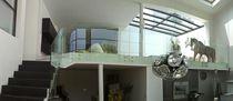 Garde-corps en verre / à panneaux en verre / d'intérieur / d'extérieur