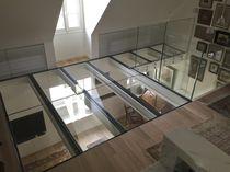 Plancher technique en acier / en verre / d'intérieur