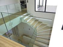 Garde-corps en verre / à barreaux / d'intérieur / pour escalier