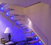 Escalier quart tournant / marche en bois / marche en chêne / structure en acier