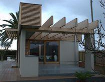 Maison individuelle / préfabriquée / contemporaine / en bois massif
