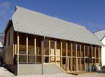 Maison préfabriquée / contemporaine / à ossature bois / à 2 étages