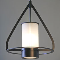 Lampe suspension / contemporaine / en métal / en verre dépoli