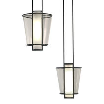 Lampe suspension / contemporaine / en métal / en verre