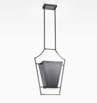 Lampe suspension / contemporaine / en métal / grise