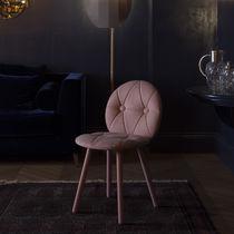 Chaise design scandinave / en frêne / en hêtre / tapissée