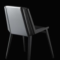 Chaise design scandinave / en tissu / en bois