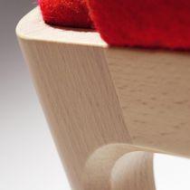 Fauteuil contemporain / en bois / en tissu / bridge
