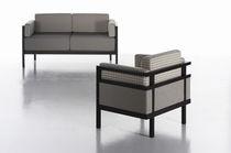 Canapé contemporain / en tissu / 3 places / gris