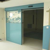 Porte d'interieur / coulissante / en verre / automatique