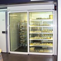 Porte d'interieur / coulissante / en aluminium / automatique