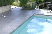 Carrelage pour plage de piscine / de sol / en béton / mat