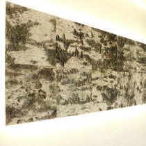 Panneau acoustique mural / en bois / décoratif / texturé