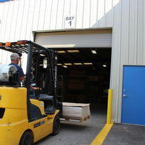 Porte industrielle enroulable / en acier galvanisé / haute performance / isolante