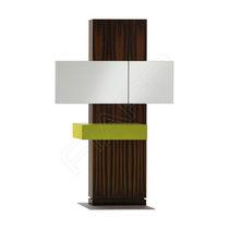 Coiffeuse contemporaine / stratifiée / en acier inoxydable / en bois