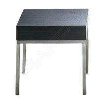 Table basse contemporaine / en acier inoxydable / carrée / professionnelle